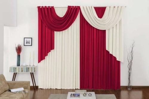 cortina versátil  p/ varão duplo 2,00m x 1,70m