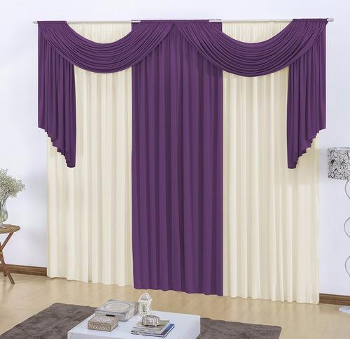 cortina viena 3,00m x 2,80m  verde com palha