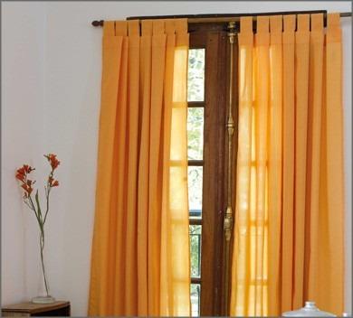 cortinas paos al costotela rusticas lisa en colores
