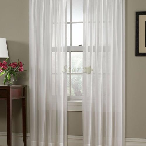 cortinas a medida de voile simple por metro - star deco