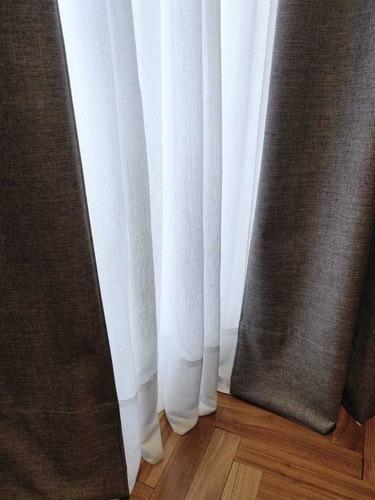 cortinas a medida gasa, lino voile blackout, roller y screen