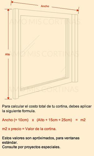 cortinas a medida roller black out 5 capas blackout