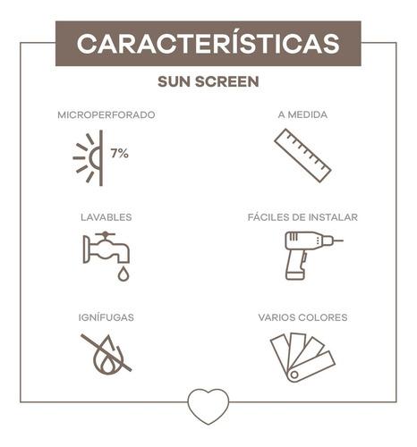 cortinas a medidas roller sun screen 7%  privacidad interior