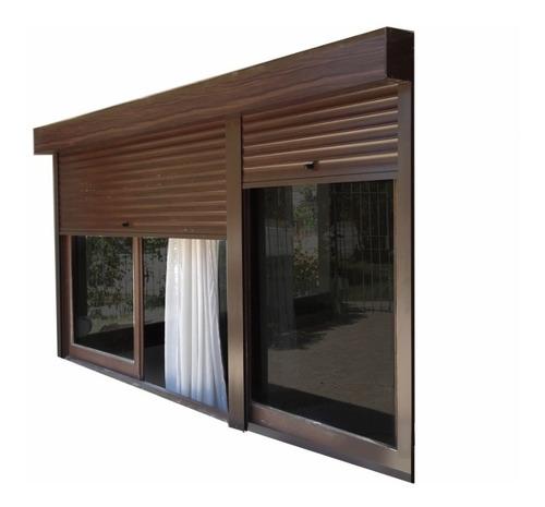 cortinas aluminio imitación madera