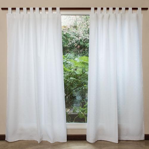 cortinas arco iris tela calais presillas 140 x 210 blanca
