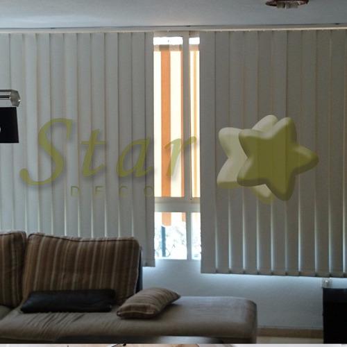 cortinas bandas verticales black out vinílico -star deco !!!