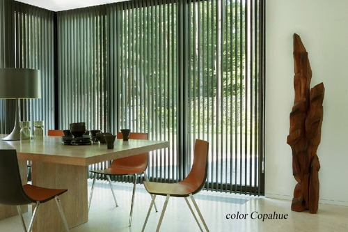 cortinas bandas verticales tela adi de sunset traslucida