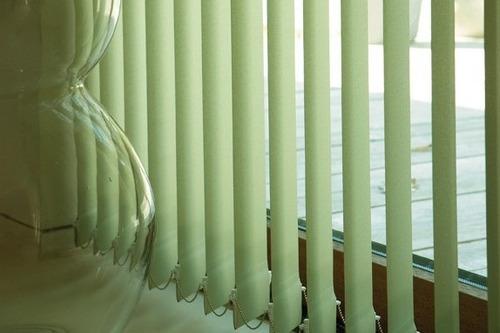cortinas bandas verticales tela cycladas semi opacas sunset