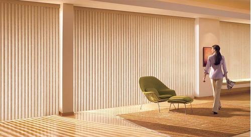 cortinas bandas verticales tela maldivas semi opaca sunset