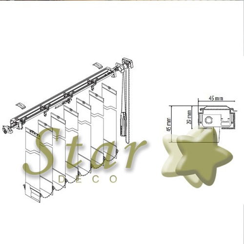 cortinas bandas verticales tela poliester bondo - star deco