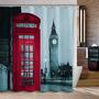 Cortina Baño Diseño Cabina Teléfono Londres 180x180 Cms