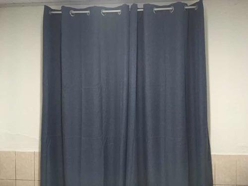 cortinas black out azules 2 paños
