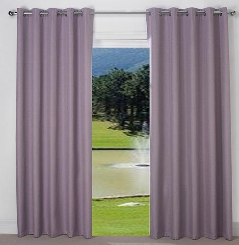 cortinas black out con ojillos color a elejir