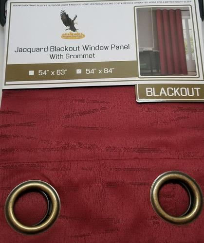 cortinas blackout ahulada jacquard 2 piezas