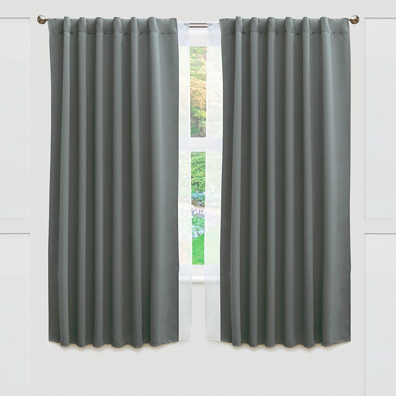 Cortinas blackout cortas catania gris vianney for Cortinas en tonos grises