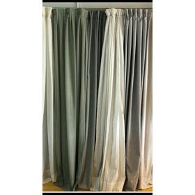 Cortinas Blackout Textil Lino Con Presillas Ocultas. 280x220