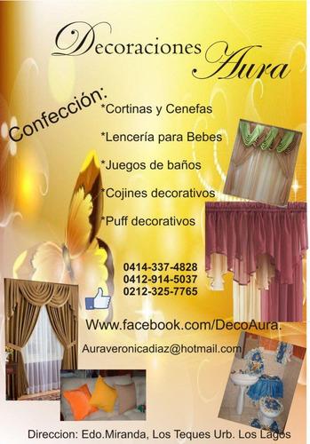 cortinas, cenefas, cojines, tendidos y mas para tu hogar
