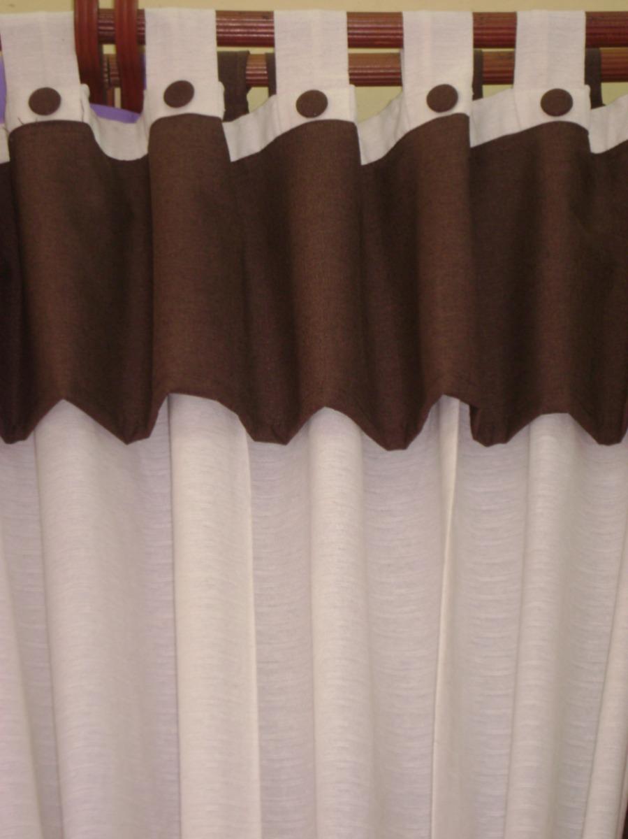 Cortinas con presillas faldon botones forrados y - Como hacer cortinas de tiras ...