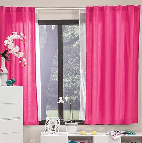 Cortinas cortas frambuesa rosa vianney envio gratis for Cortinas cortas