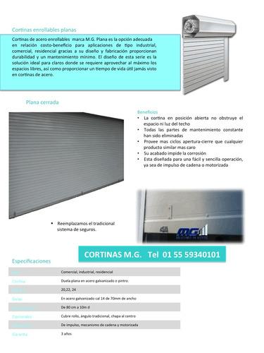 cortinas de acero y cortinas de aluminio, portones