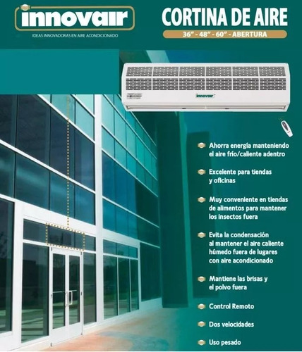 cortinas de aire para su local evita polvo e insectos