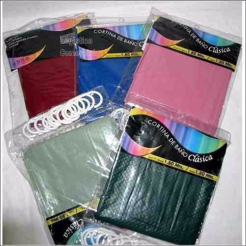 cortinas de baño clásica vinilo cocina hogar varios colores