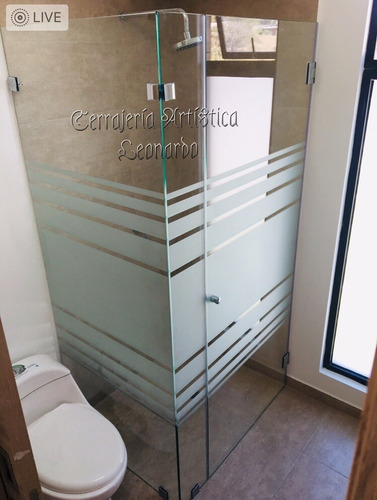 cortinas de baño con vidrio templado y acero inoxidable