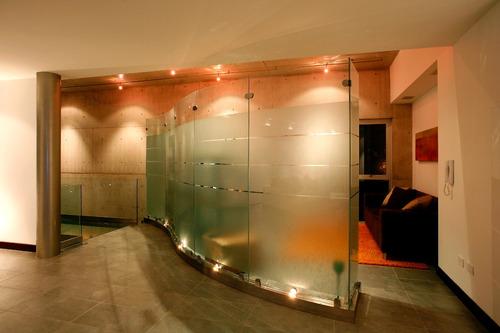 cortinas de baño en vidrio templado