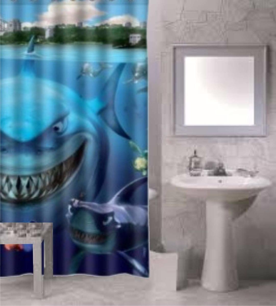cortinas de baño. impresas diseños decoracion venecitas - $ 190,00