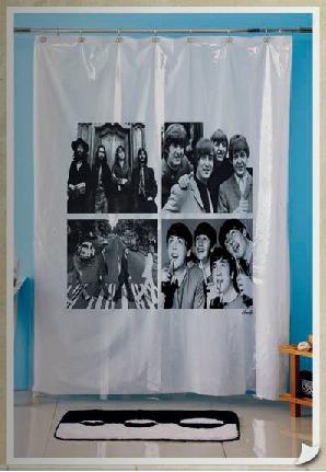 cortinas de baño plásticas. diseño de personajes
