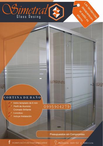 cortinas de baño vidrio templado