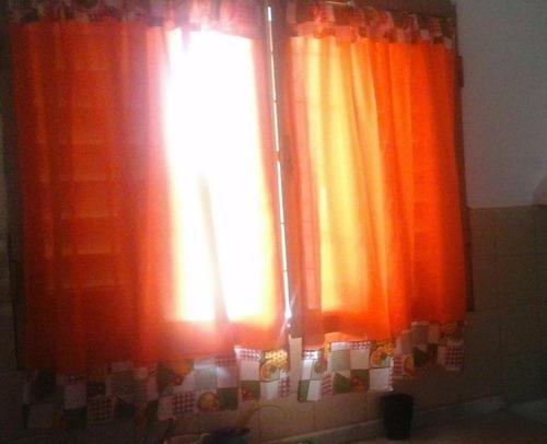 cortinas de cocina dos paños