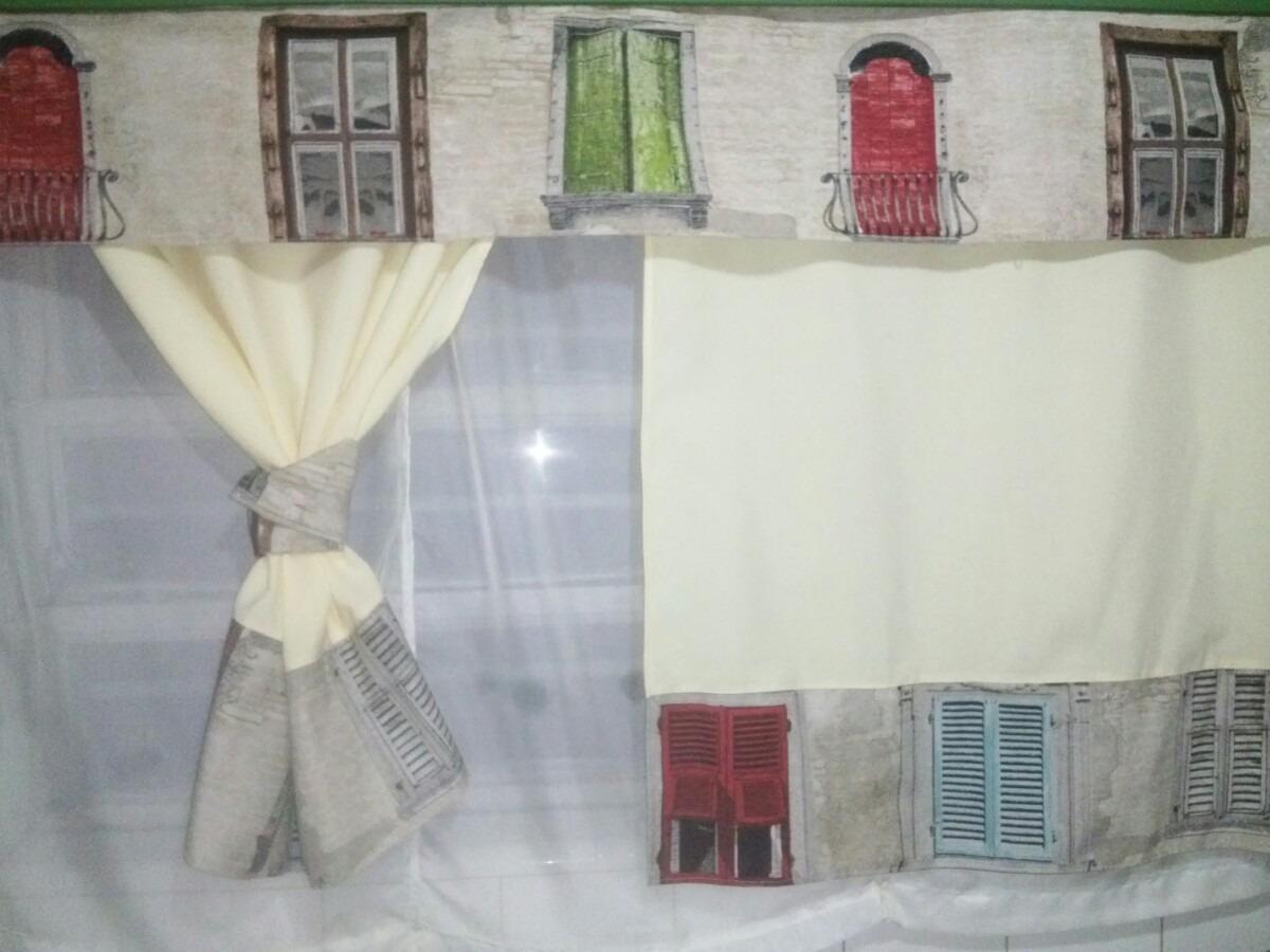 Cortinas De Diseño Cocina Comedor En Panama Tela Tapiceria - $ 750 ...