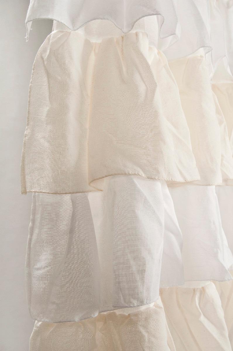 cortinas de gasa de algodon con volados