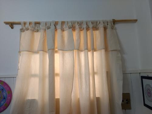 cortinas de lienzo tramado doble rusticas
