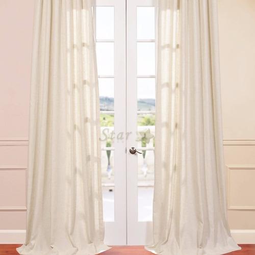 cortinas de muselina a medida, por metro - star deco