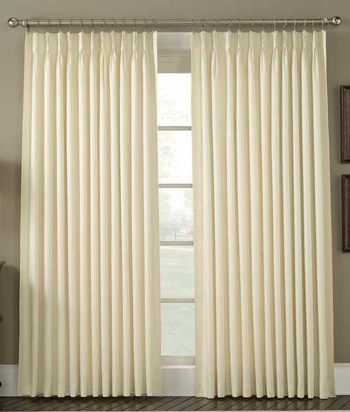 Cortinas de pliegue tradicional frances tela semi blackout - Telas para cortinas precios ...
