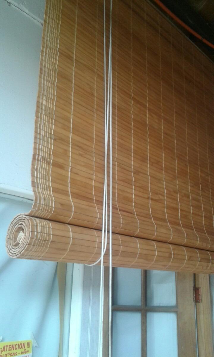 Cortinas de rollo en madera en mercado libre - Cortinas de madera ...
