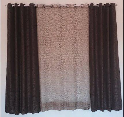 cortinas de tela con ojillos para sala