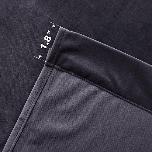 cortinas de terciopelo de nicetown con espacio para barra