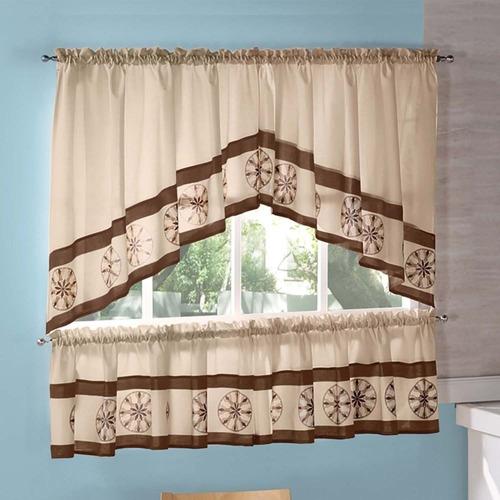 cortinas decorativas de cocina tipo b modelo caramel bc19