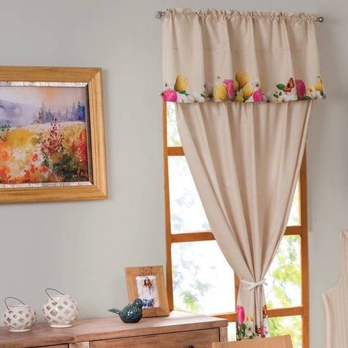 cortinas decorativas de cocina tipo c modelo tulipanes bc19