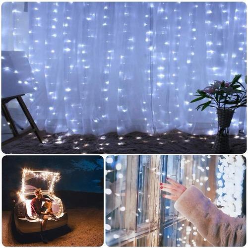 cortinas decorativas luces led control remoto 3x3m usb power
