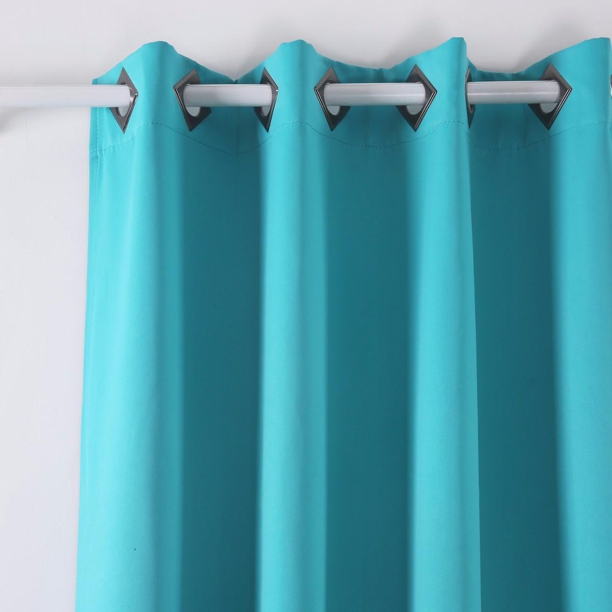Cortinas decorativas termicas 132x241cm color turquesa - Cortinas turquesa ...