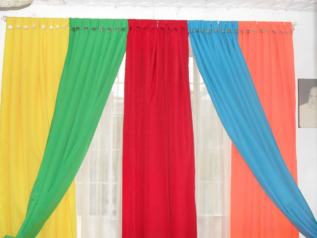 Cortinas en tela panama 280 00 en mercado libre for Donde venden cortinas