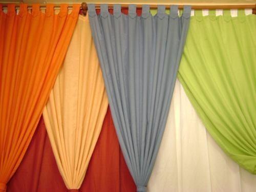 Cortinas en tela panam variedad de colores 100 x 70 for Cortinas para comedor baratas