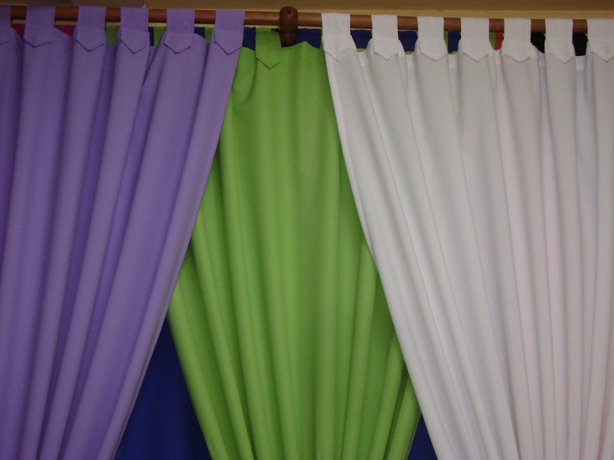Cortinas en tela panam variedad de colores 190 x 150 for Colores de cortinas