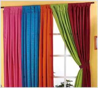 Cortinas En Tela Panamá   Variedad De Colores   190 X 150   $ 540