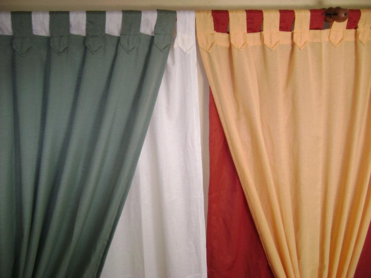 Cortinas en tela panam variedad de colores 70 x 40 for Cortinas de tela