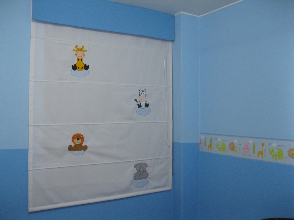 Cortinas estores para ni os en tela importada s 89 for Telas para cortinas infantiles